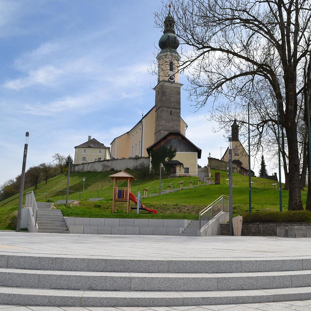 Pronaturstein Österreich - Neugestaltung des Dorfzentrums Bergheim - ein Projekt von Poschacher